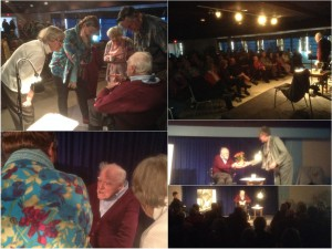 "Antony Holland, 93, entertained over 90 people at Meaden Hall on November 3rd with his play/story-telling of ""One Man in His Time"". A fundraiser for SS Hospice."